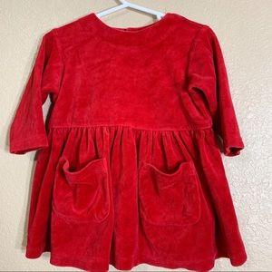 Gap baby girl red velvet dress size 6-12 months